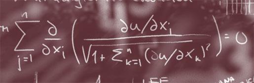 Matematisk formel på en svart tavla.