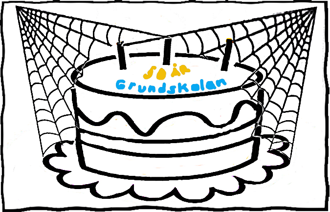 spindelnät över 50 års-tårta.