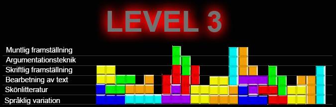Tetrisspel som kunskapsmatris.