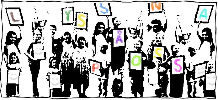 Barn som demonstrerar: Lyssna på oss!