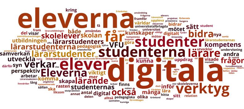 Ordmoln: eleverna, digital, lärande, verktyg med flera.